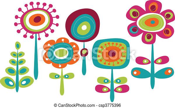 mignon, fleurs, coloré - csp3775396