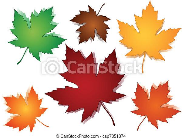 modèle, feuilles, seamless, érable, automne - csp7351374