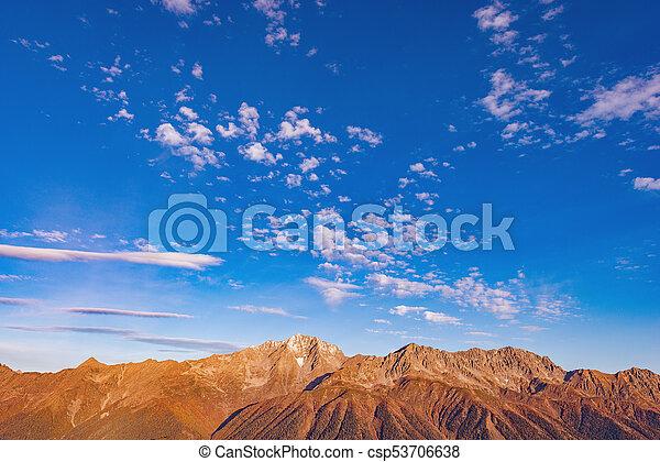 montagnes., vue - csp53706638