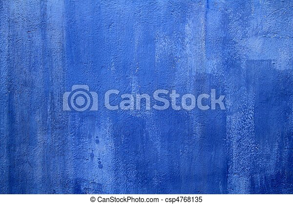 mur bleu, grunge, texture, fond - csp4768135