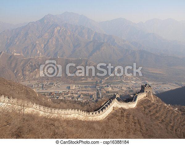 mur, grand, porcelaine - csp16388184