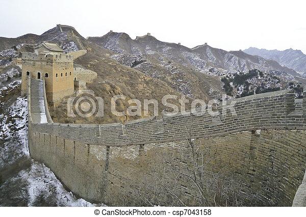 mur, grand, porcelaine - csp7043158