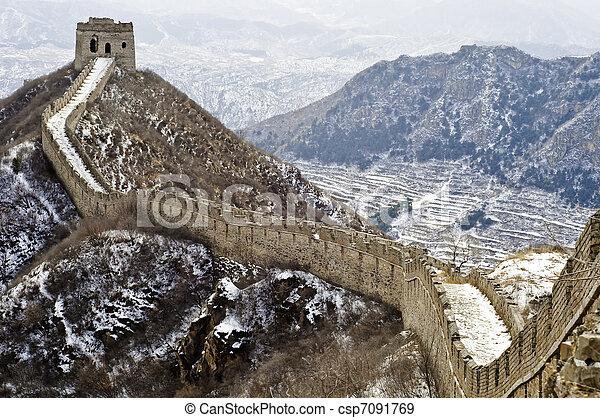 mur, grand, porcelaine - csp7091769