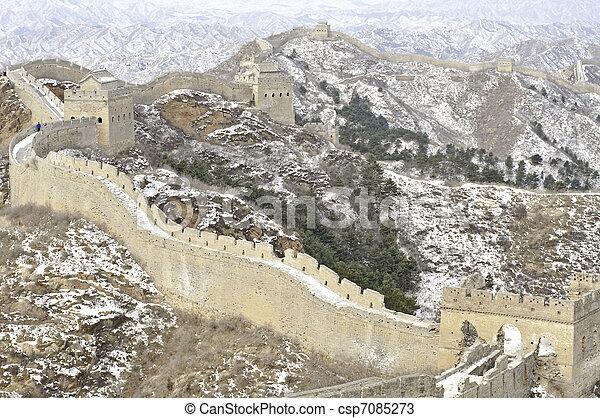mur, grand, porcelaine - csp7085273