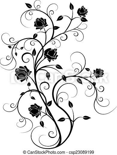 noir, 6, flourishes - csp23089199