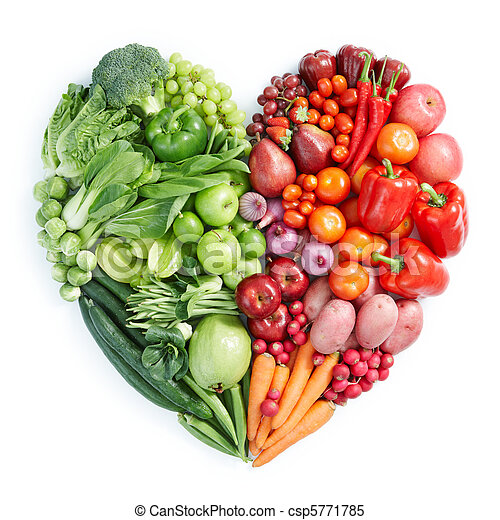 nourriture saine, rouge vert - csp5771785