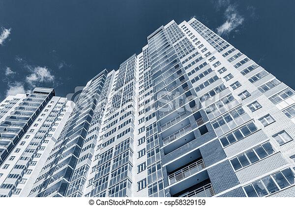 nouveau, appartement, extérieur, bâtiment. - csp58329159