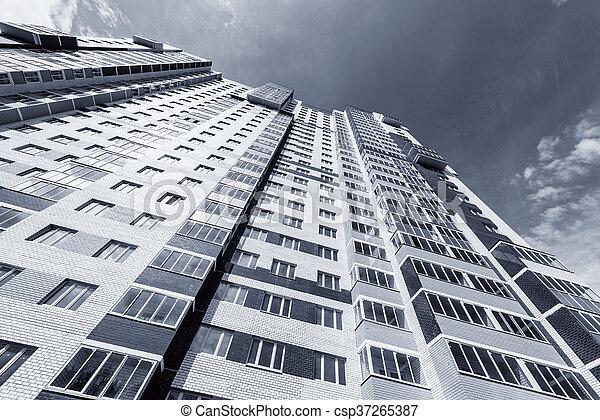 nouveau, appartement, extérieur, bâtiment. - csp37265387