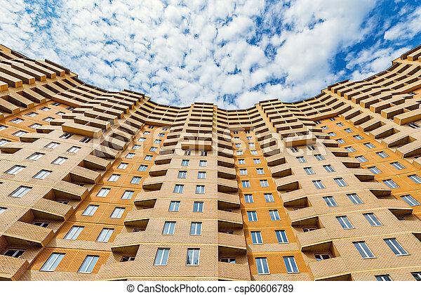 nouveau, appartement, extérieur, bâtiment. - csp60606789