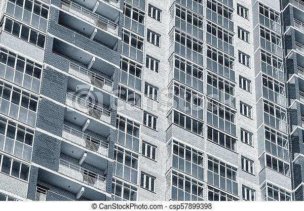 nouveau, appartement, extérieur, bâtiment. - csp57899398