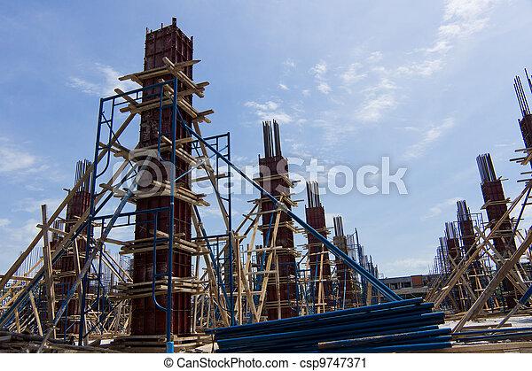 nouveau, construction, bâtiment. - csp9747371
