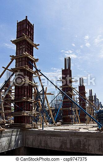nouveau, construction, bâtiment. - csp9747375