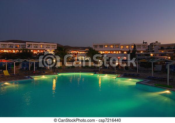 nuit, hôtel, temps - csp7216440