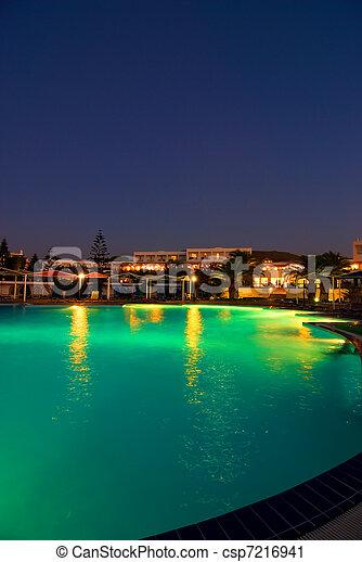 nuit, hôtel, temps - csp7216941