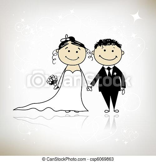 palefrenier, ton, mariage, -, cérémonie, ensemble, conception, mariée - csp6069863