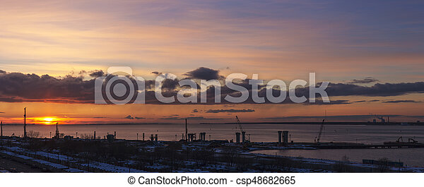 panorama, site construction - csp48682665