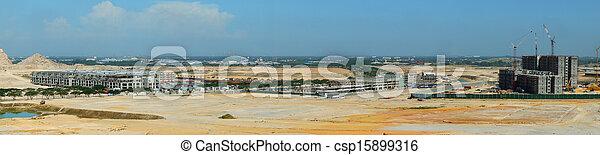 panoramique, site construction, vue - csp15899316