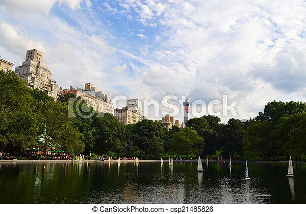parc, manhattan, central, york, nouveau - csp21485826
