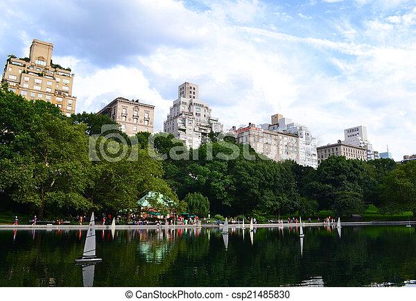 parc, manhattan, central, york, nouveau - csp21485830