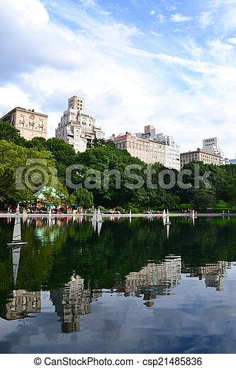 parc, manhattan, central, york, nouveau - csp21485836