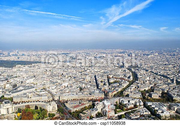 paris, vue panoramique - csp11058938