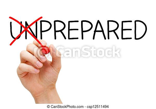 pas, non préparé, préparé - csp12511494