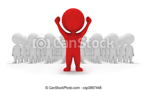 petit, volontaires, -, 3d, gens - csp3897448
