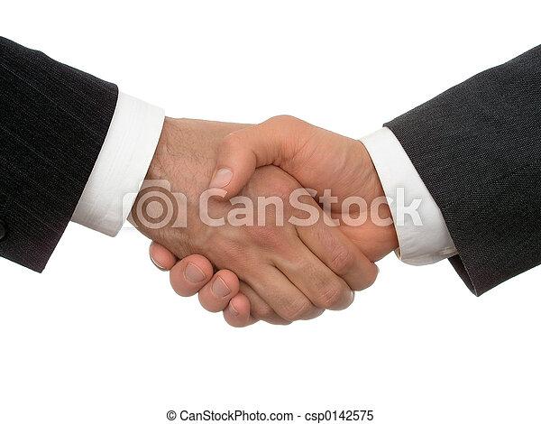 poignée main, business - csp0142575