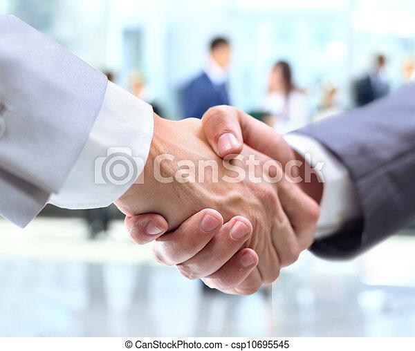poignée main, professionnels - csp10695545