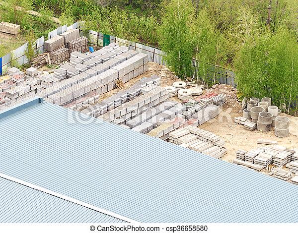 produits, stockage, piles, béton - csp36658580