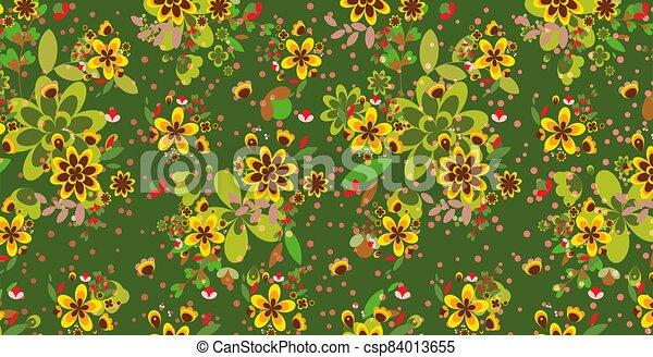 résumé, fond, floral - csp84013655
