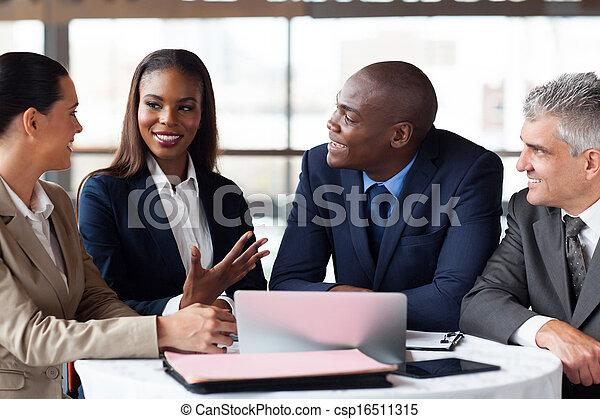réunion affaires, partenaires, avoir - csp16511315
