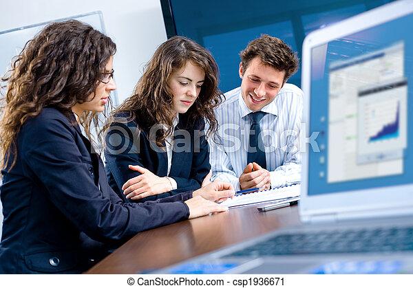 réunion, bureau affaires - csp1936671