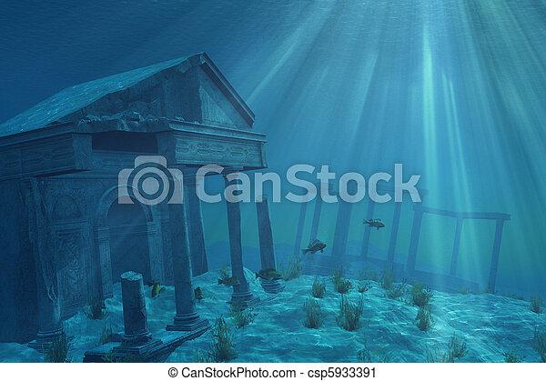 ruines, sous-marin - csp5933391