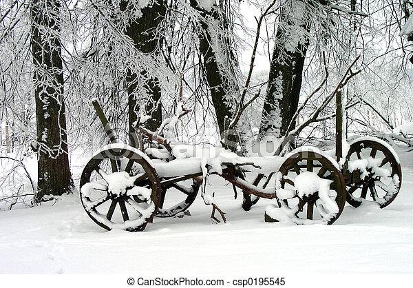 scène hiver - csp0195545