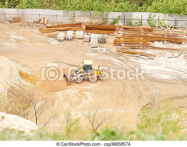 site., construction, tracteur, fonctionnement - csp36658574