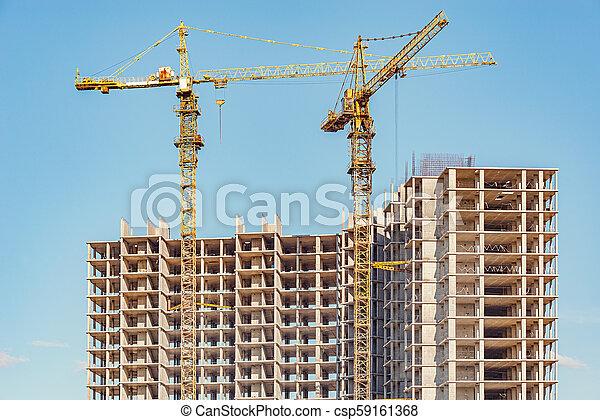 site., construction, vue - csp59161368