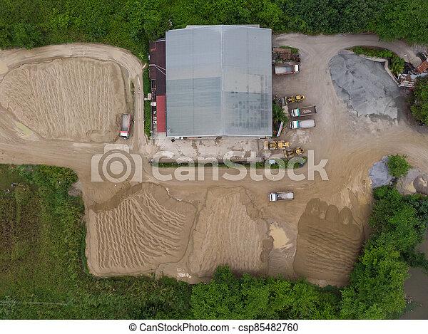site, vue, construction, aérien - csp85482760