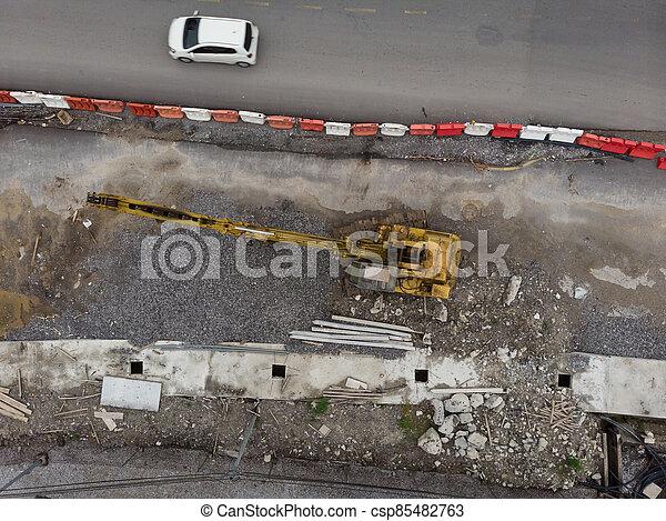 site, vue, construction, aérien - csp85482763
