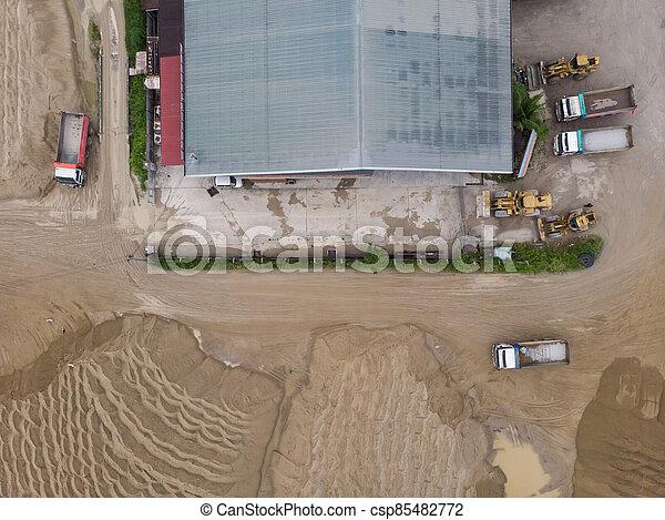site, vue, construction, aérien - csp85482772