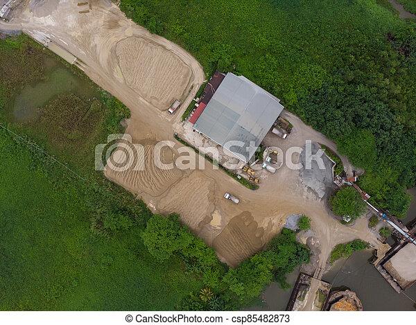 site, vue, construction, aérien - csp85482873