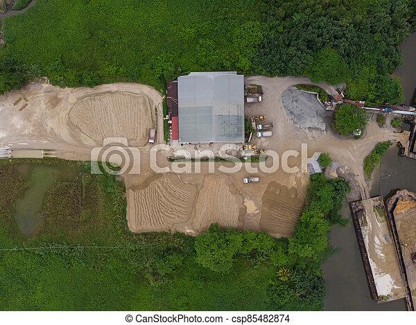 site, vue, construction, aérien - csp85482874