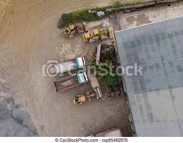 site, vue, construction, aérien - csp85482876
