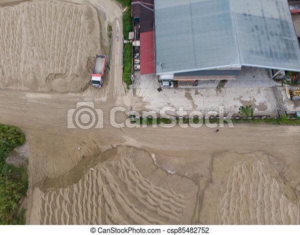 site, vue, construction, aérien - csp85482752
