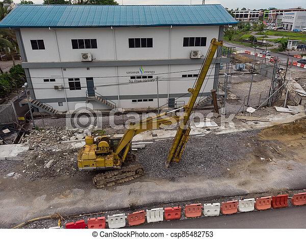 site, vue, construction, aérien - csp85482753