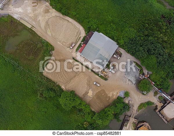site, vue, construction, aérien - csp85482881