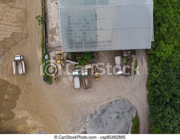 site, vue, construction, aérien - csp85482885