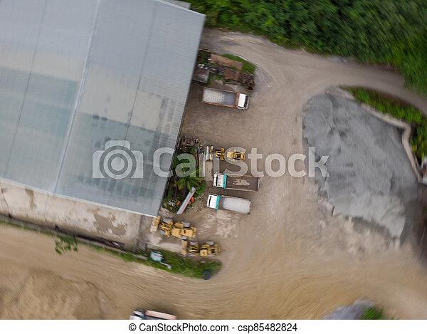 site, vue, construction, aérien - csp85482824