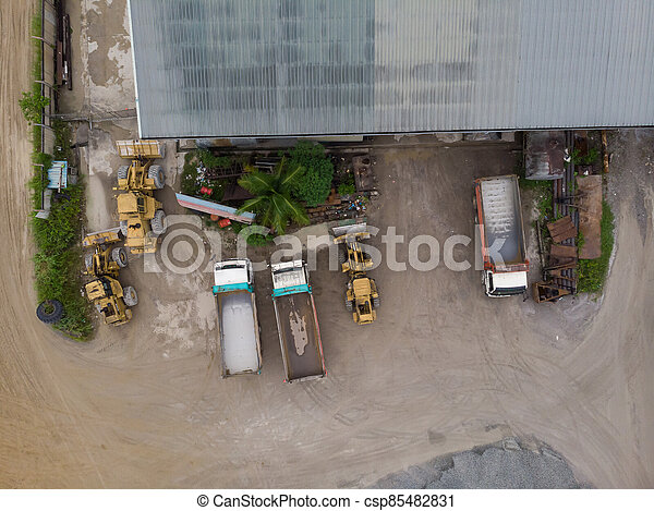 site, vue, construction, aérien - csp85482831