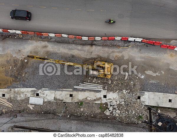 site, vue, construction, aérien - csp85482838